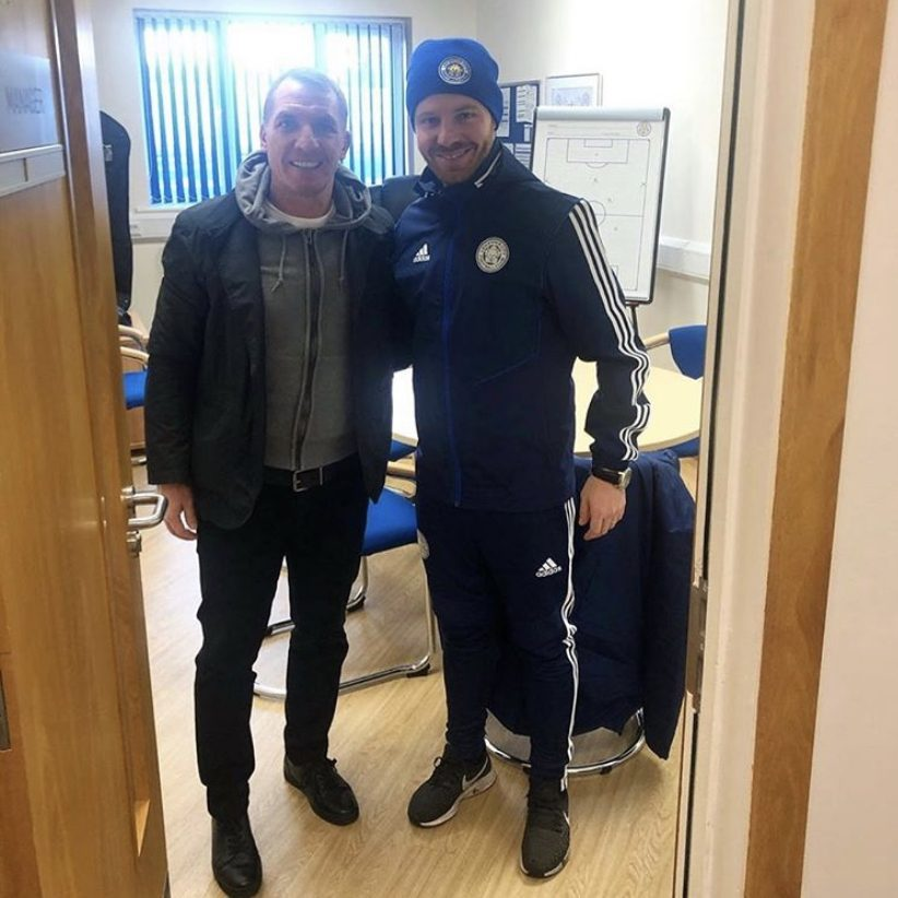 Michael Holzer with Brendan Rodgers at Leicester City