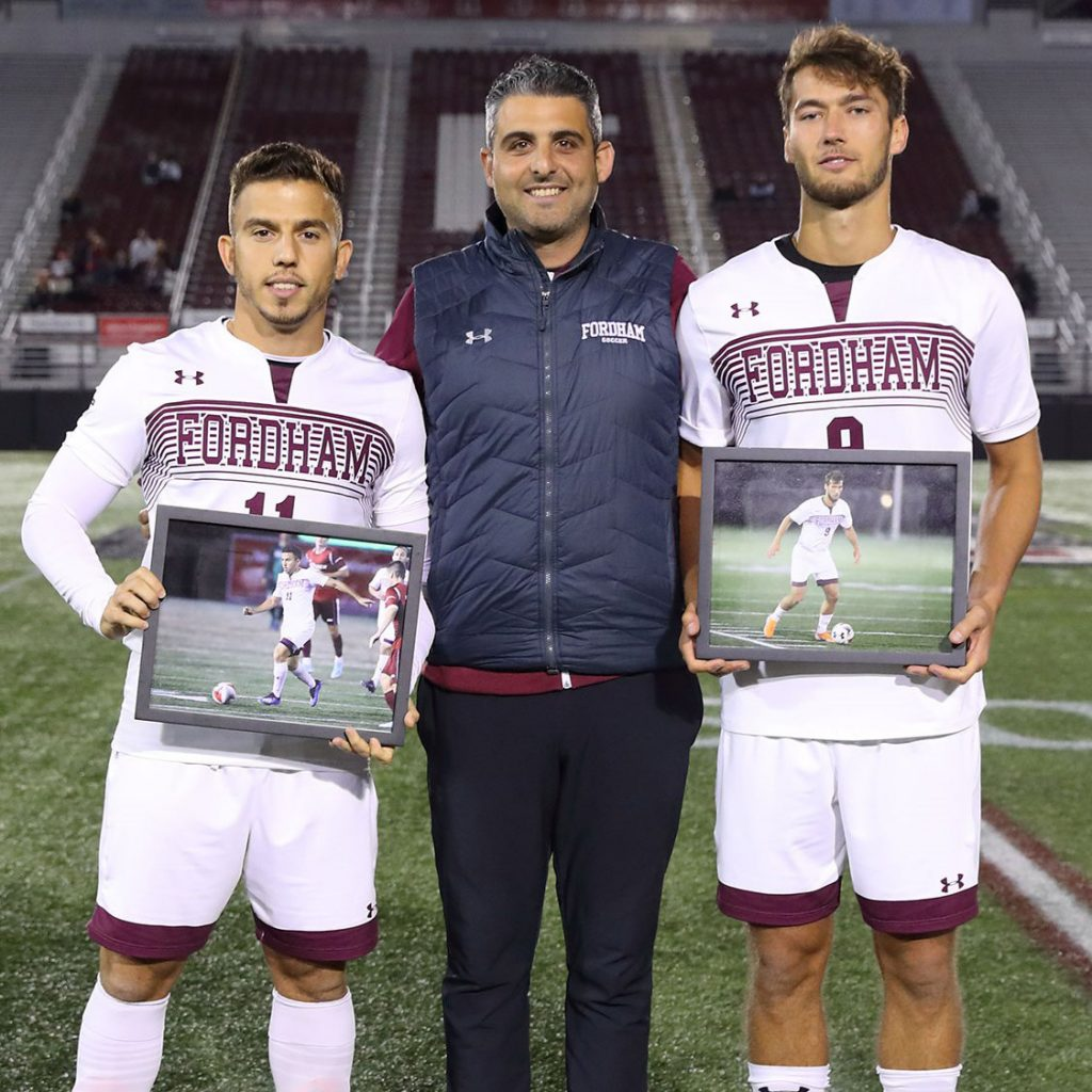 Johannes Pieles on a soccer scholarship at Fordham University