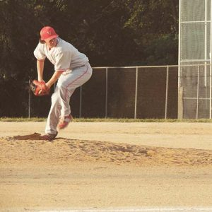 Allan Smith throwing for Rutgers University