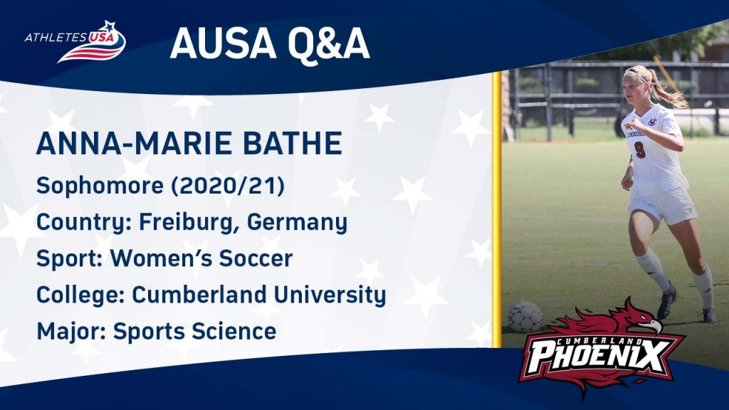 Women's College Soccer at Cumberland University - From Germany to the USA - Marie Bathe Interview