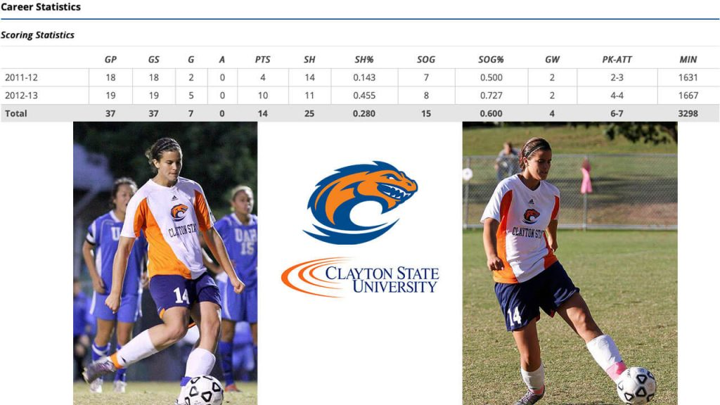 Women's Soccer in the USA - Silvia Espelt at Clayton State University