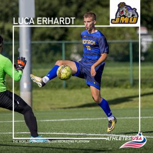 Luca Erhardt transfers to James Madison University in the NCAA D1 | NJCAA transfer to NCAA