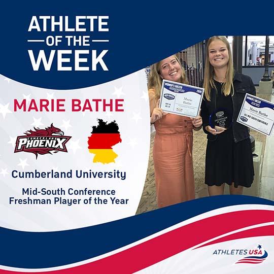 Marie Bathe at Cumberland University - Women's College Soccer