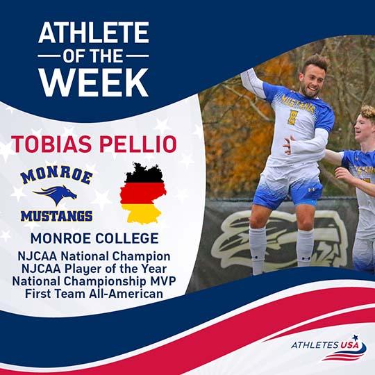 Tobias Athlete of the Week   Athletes USA
