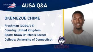 How to get a soccer scholarship in USA from UK - Interview with Okem Chime at the University of Connecticut