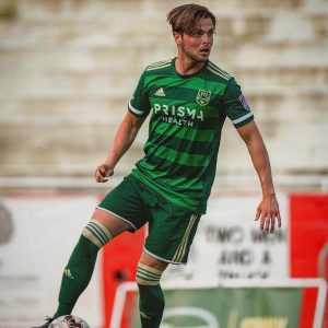 Scout Tyler Bolton playing in the NPSL