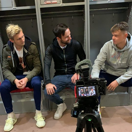 Erwin and Joshua in an Interview about College Soccer in New York City