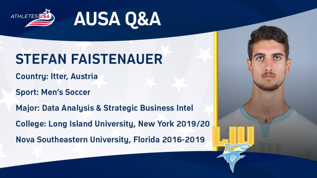 Stefan Faistenauer: FC Bayern München Youth Academy - D2 College Soccer in Florida - D1 College Soccer in New York - Job in San Francisco